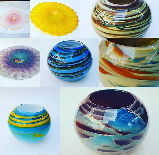 Glass blown bowls
